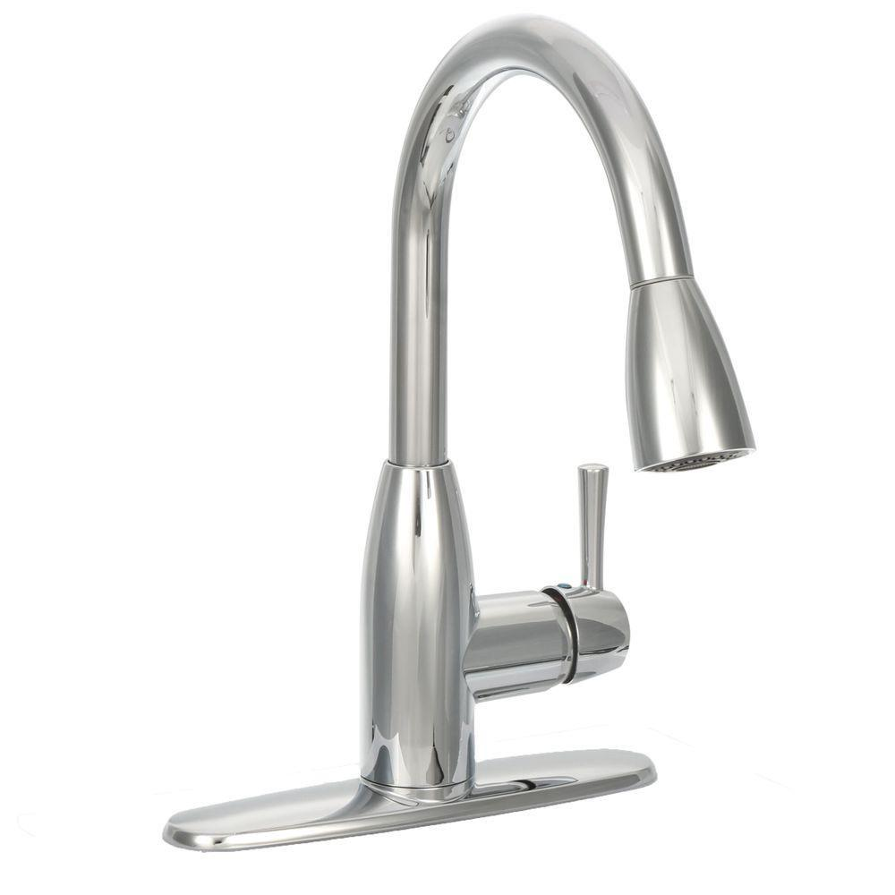 Fairbury Single Handle Pull Down Sprayer Kitchen Faucet In Chrome
