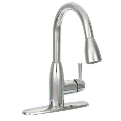 Fairbury Single-Handle Pull-Down Sprayer Kitchen Faucet in Chrome