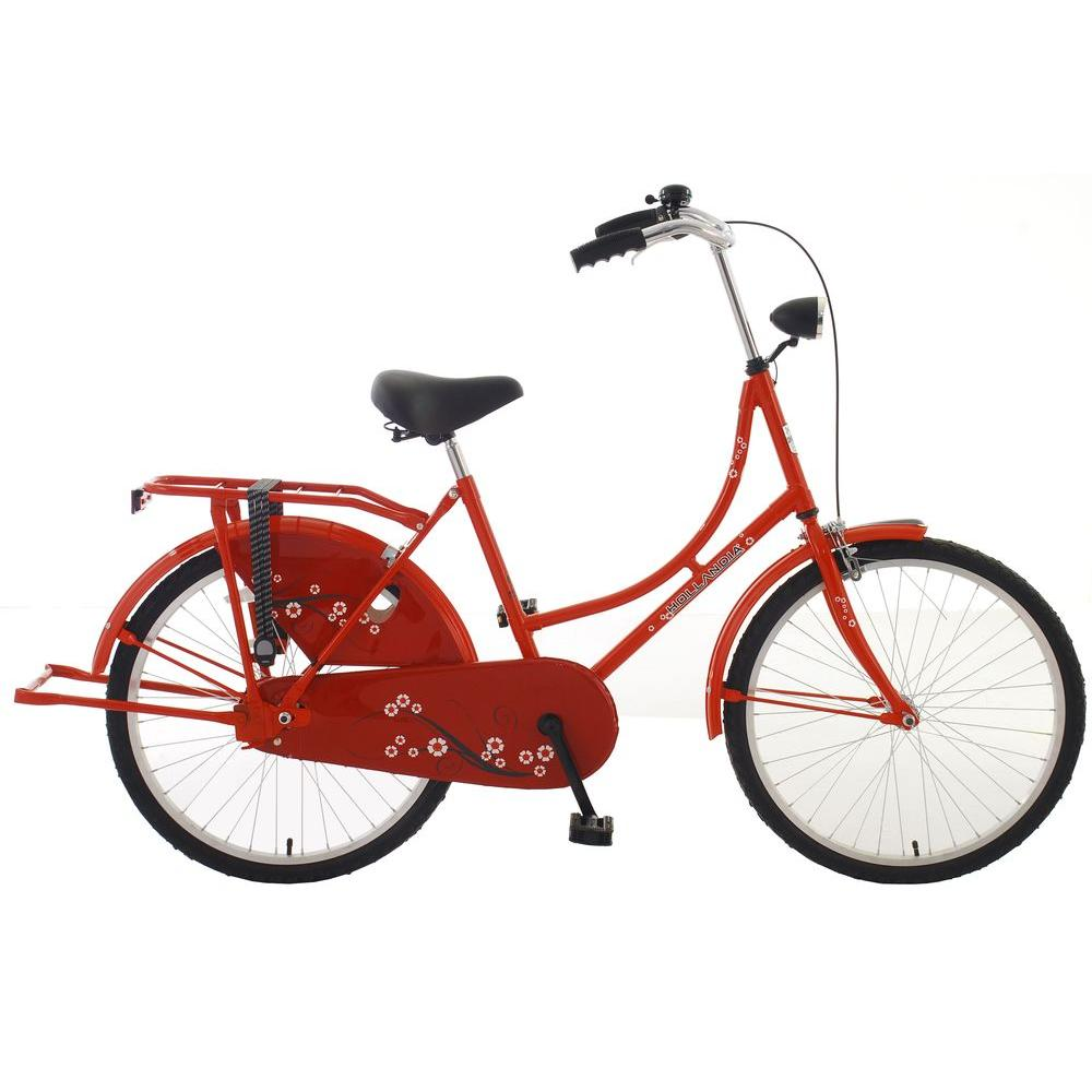 Hollandia New Oma Dutch Cruiser Bicycle with Chain Guard and Dress Guard, 24 in. Wheels, 17 in. Frame, Women's Bike, R