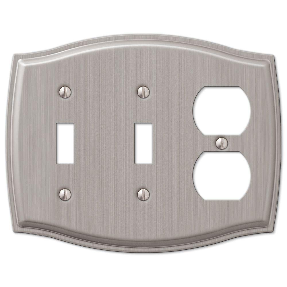 Sonoma 2 Toggle 1 Duplex Combination Wall Plate - Nickel