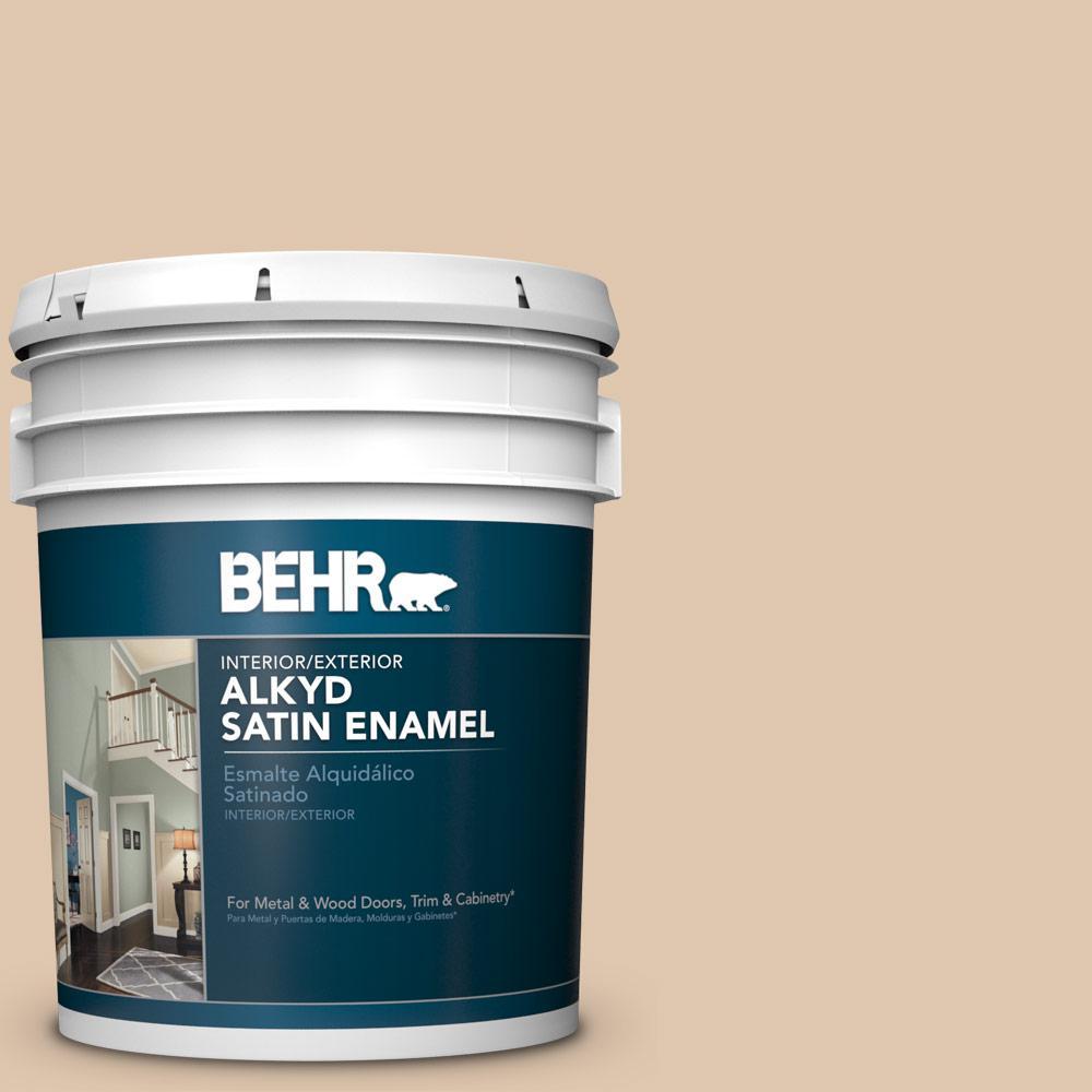 5 gal. #N260-2 Almond Latte Satin Enamel Alkyd Interior/Exterior Paint