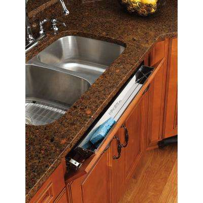 3 in. H x 25 in. W x 1.688 in. D Stainless Tip Out Sink Front Tray