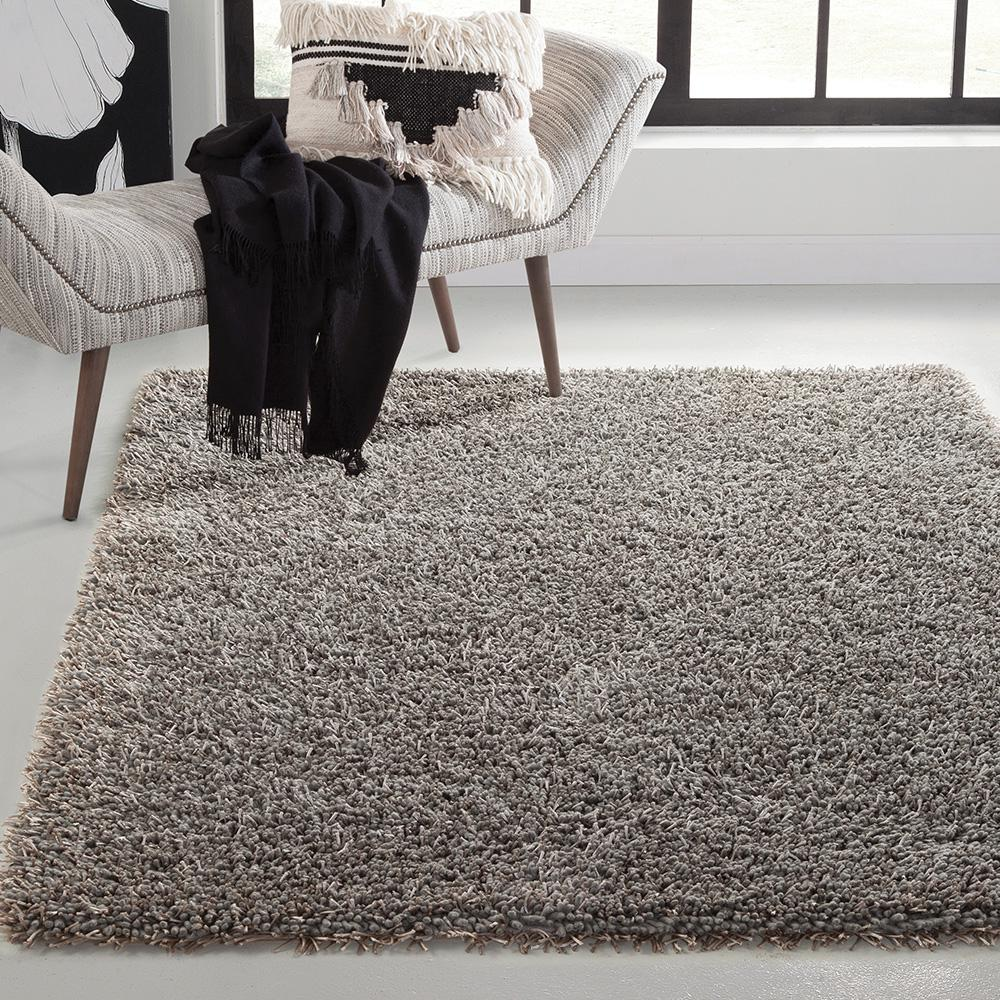 Lifestyle Shag Grey 8 Ft X 10 Ft Area Rug 9550 8x10 The Home Depot