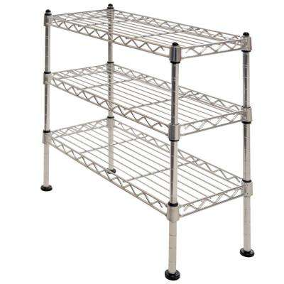 17.5 in. W 3-Tier Mini Cabinet Organizer in UltraZinc