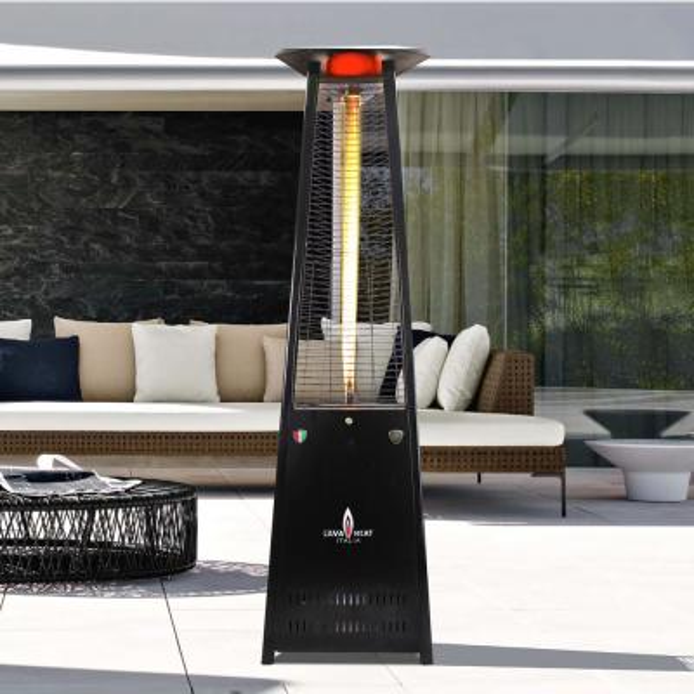 Lavalite KD 56,000 BTU 8 ft. Hammered Black Propane Patio Heater