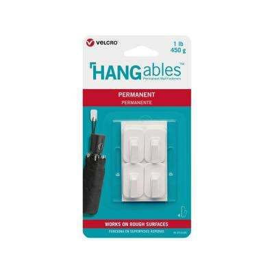 HANGables Permanent Micro Hook in White (4-Count)