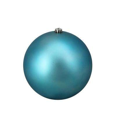 10 in. (250 mm) Turquoise Blue Commercial Shatterproof Matte Christmas Ball Ornament