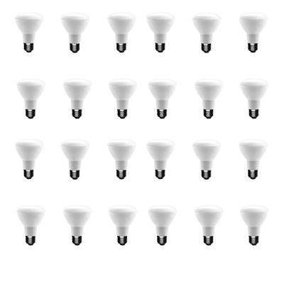 50-Watt Equivalent BR20 Dimmable LED Light Bulb Daylight (24-Pack)