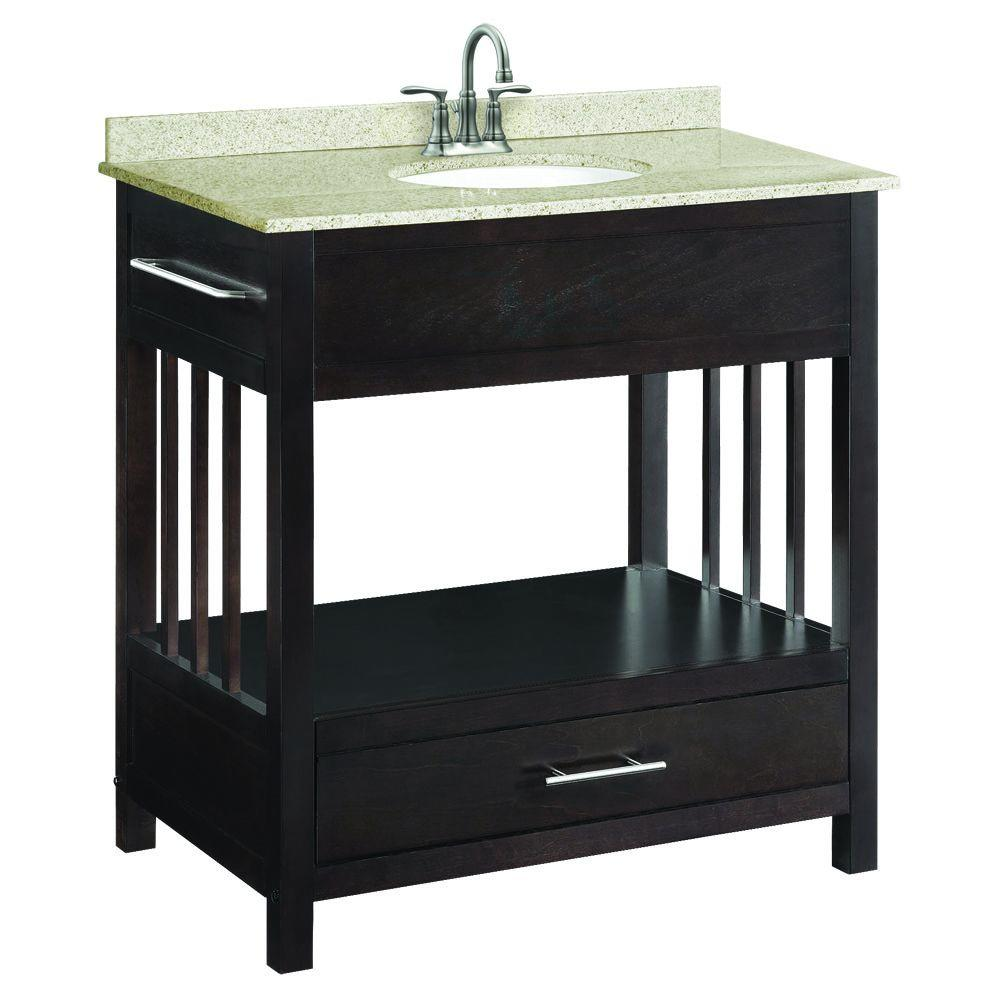 Design House Ventura 30 In W X 21 In D Console Unassembled Vanity Cabinet Only In Espresso