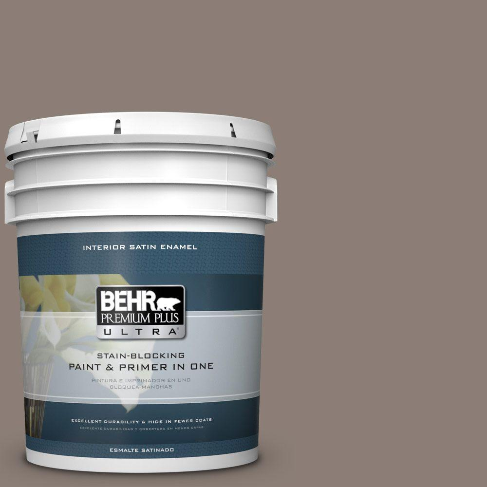 5 gal. #HDC-NT-27B Wild Truffle Satin Enamel Interior Paint
