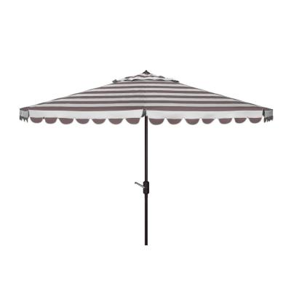 Vienna 11 ft. Aluminum Market Tilt Patio Umbrella in Gray/White