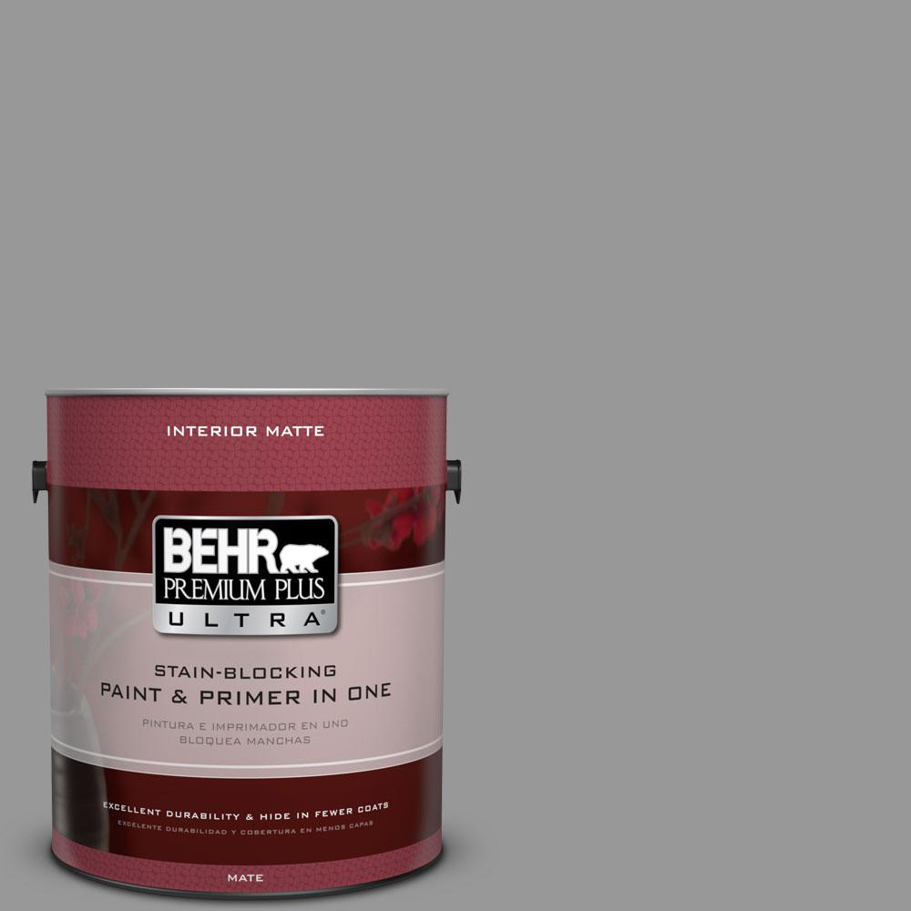 1 gal. #HDC-NT-10A Dolphin Gray Flat Interior Paint