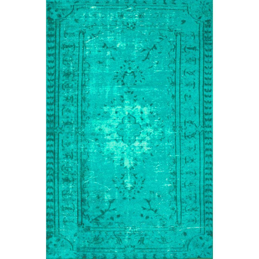 Nuloom Chroma Overdyed Style Turquoise 5 Ft X 8 Area Rug