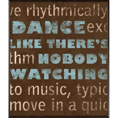 "12.5 in. x 12.5 in. ""Dance & Love A"" Framed Wall Art"