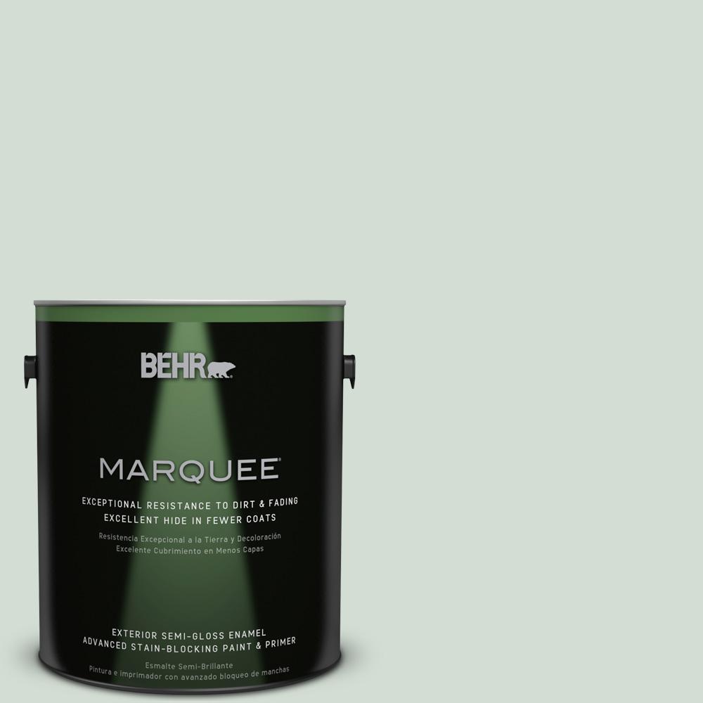 BEHR MARQUEE 1-gal. #700E-2 Lime Light Semi-Gloss Enamel Exterior Paint