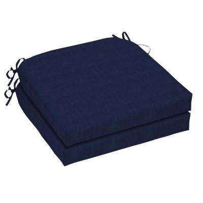 21 x 21 Outdoor Chair Cushion in Standard Midnight (2-Pack)