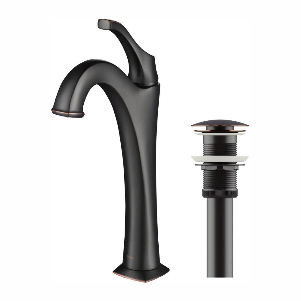 Arlo Single Hole Single Handle Vessel Bathroom Faucet in Oil Rubbed Bronze