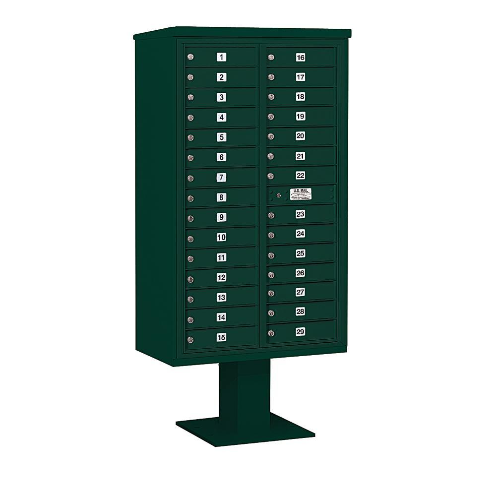 3400 Horizontal Series 29-Compartment Pedestal Mount Mailbox