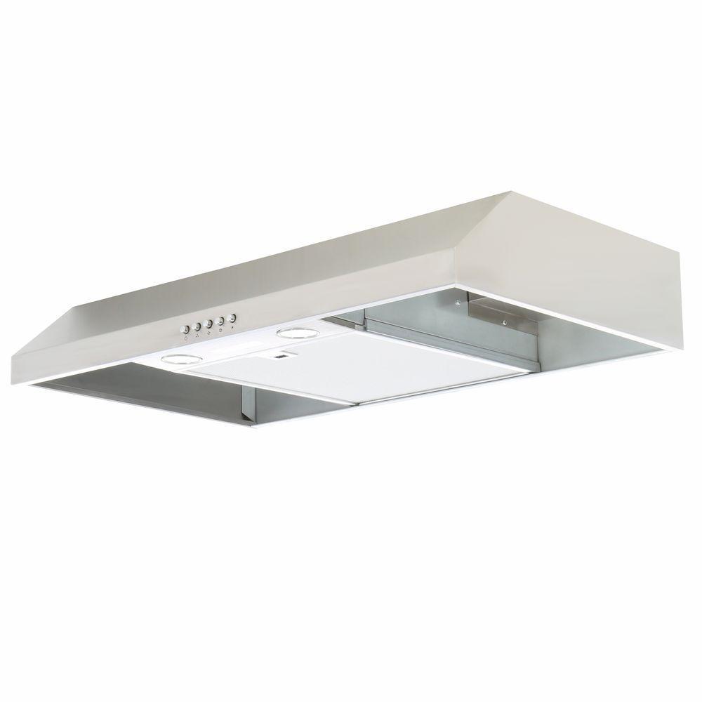 Presenza 30 in. Under Cabinet Range Hood in Stainless Steel-QR025 ...