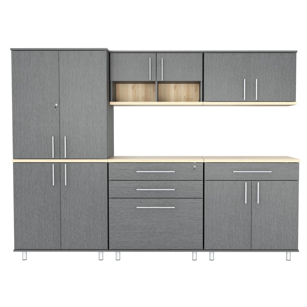 Inval Graphite Grey And Maple 94 5 In