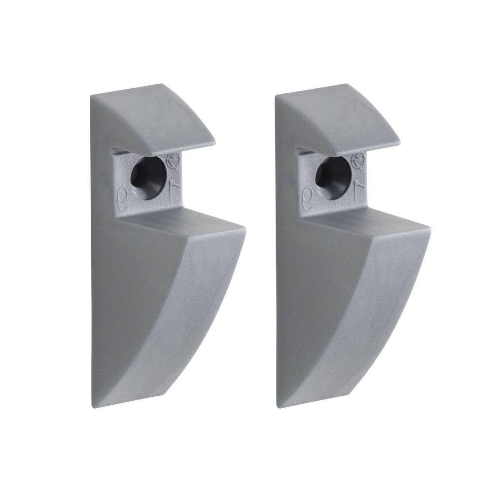 3/4 in. Shelf Support Clip in Grey