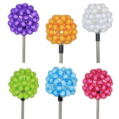 Solar Bubble 16 in. Cluster Plant Stakes (Set of 6)