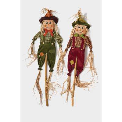 60 in. Scarecrow on Pole (Set of 2)