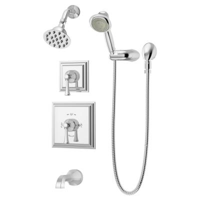 Canterbury 2-Handle Wall-Mounted Tub and Shower Trim Kit with Hand Shower in Polished Chrome (Valves not Included)