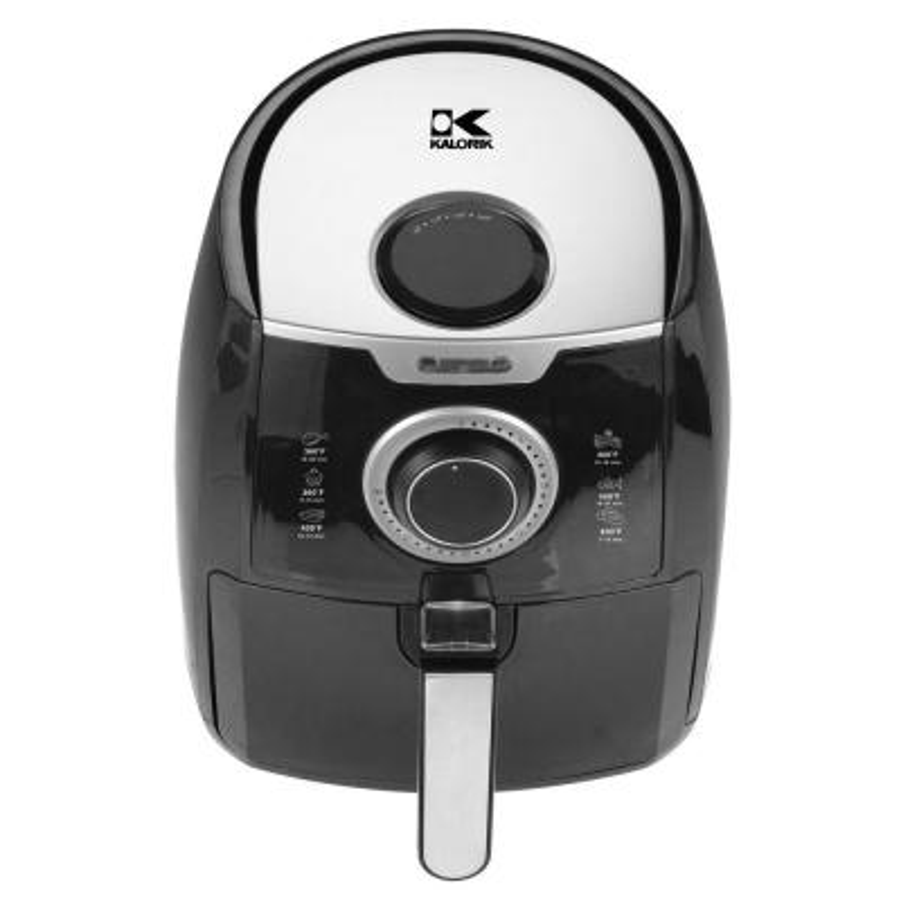 3.2 Qt. Manual Air Fryer in Black