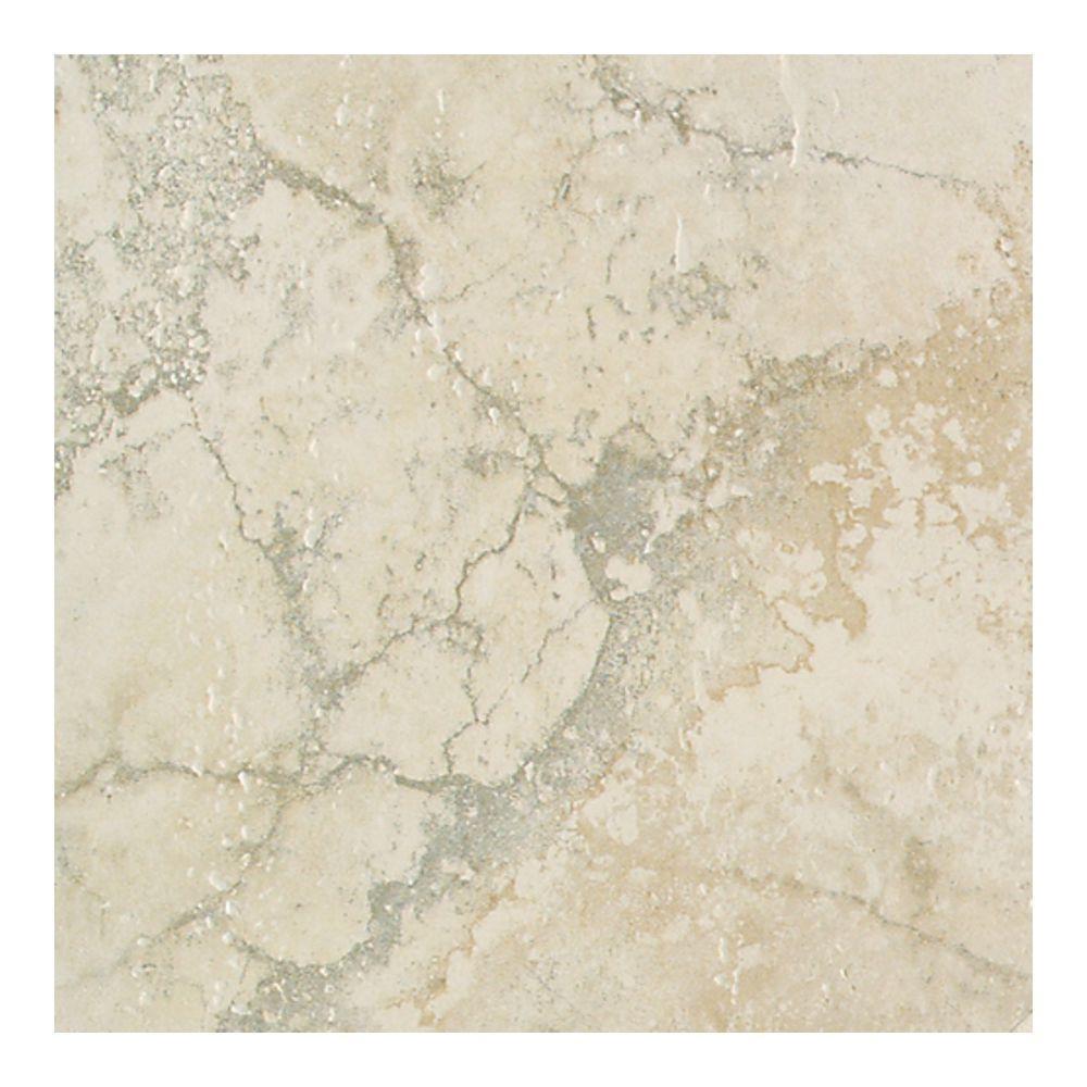 Bianco Porcelain Tile: Daltile Canaletto Bianco 18 In. X 18 In. Glazed Porcelain