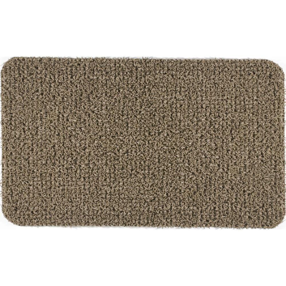 Clean Machine Flair Taupe 18 in. x 30 in. Door Mat