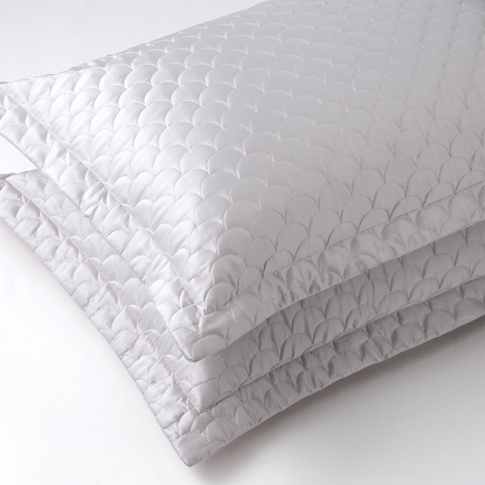 nikki chu silver cloud standard quilted pillow sham sh000562 s silv
