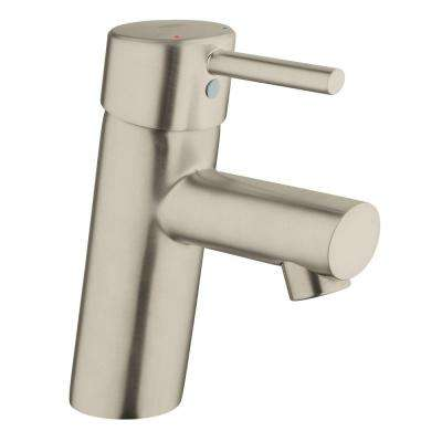 Concetto New Single Hole Single-Handle Bathroom Faucet in Brushed Nickel InfinityFinish