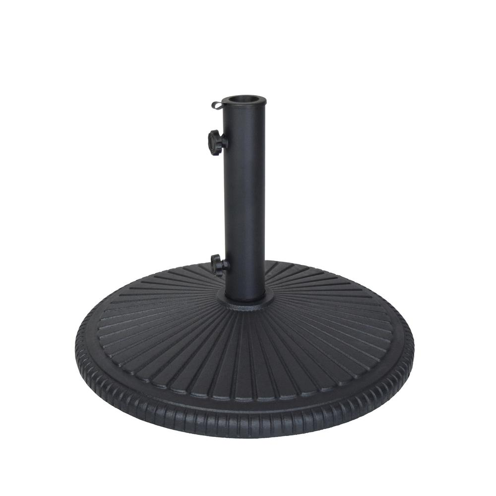 Good Patio Umbrella Base In Black DTH11 B BK   The Home Depot