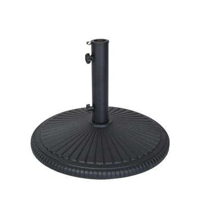 Cast Iron Patio Umbrella Base in Black