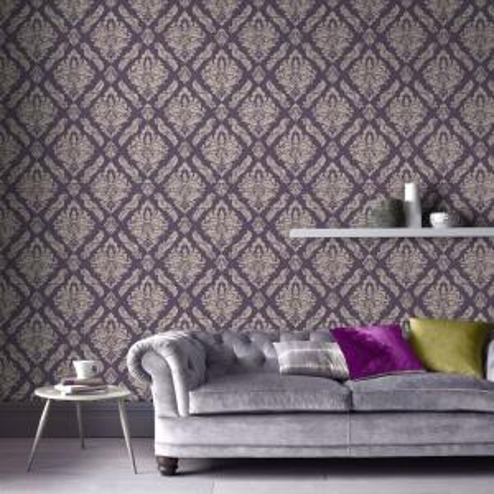Charmant Internet #303615457. Graham U0026 Brown Damaris Purple And Silver Removable  Wallpaper