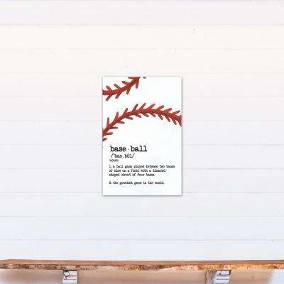 20 in. x 30 in. ''Baseball Definition'' Printed Canvas Wall Art