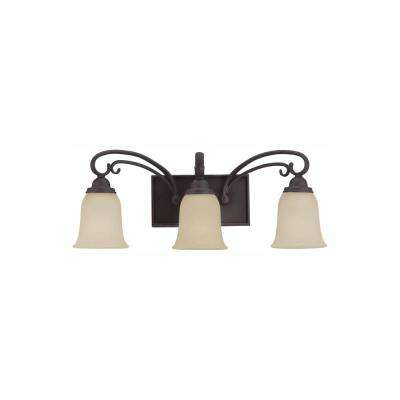 Del Prato 3-Light Chestnut Bronze Bath Light with LED Bulbs