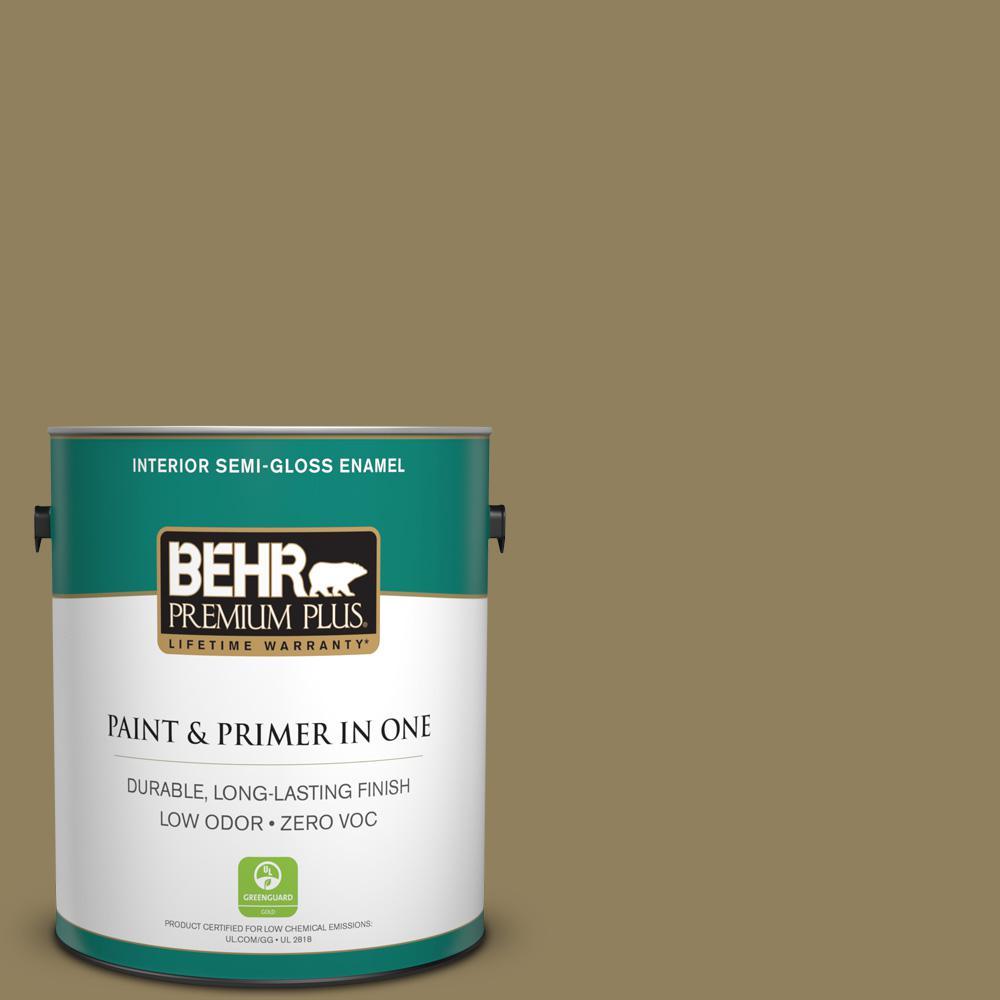 1 gal. #PPU8-02 Gingko Tree Zero VOC Semi-Gloss Enamel Interior Paint