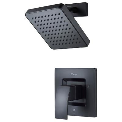 Kenzo 1-Handle 1-Spray Shower Only Trim Kit in Matte Black (Valve Not Included)