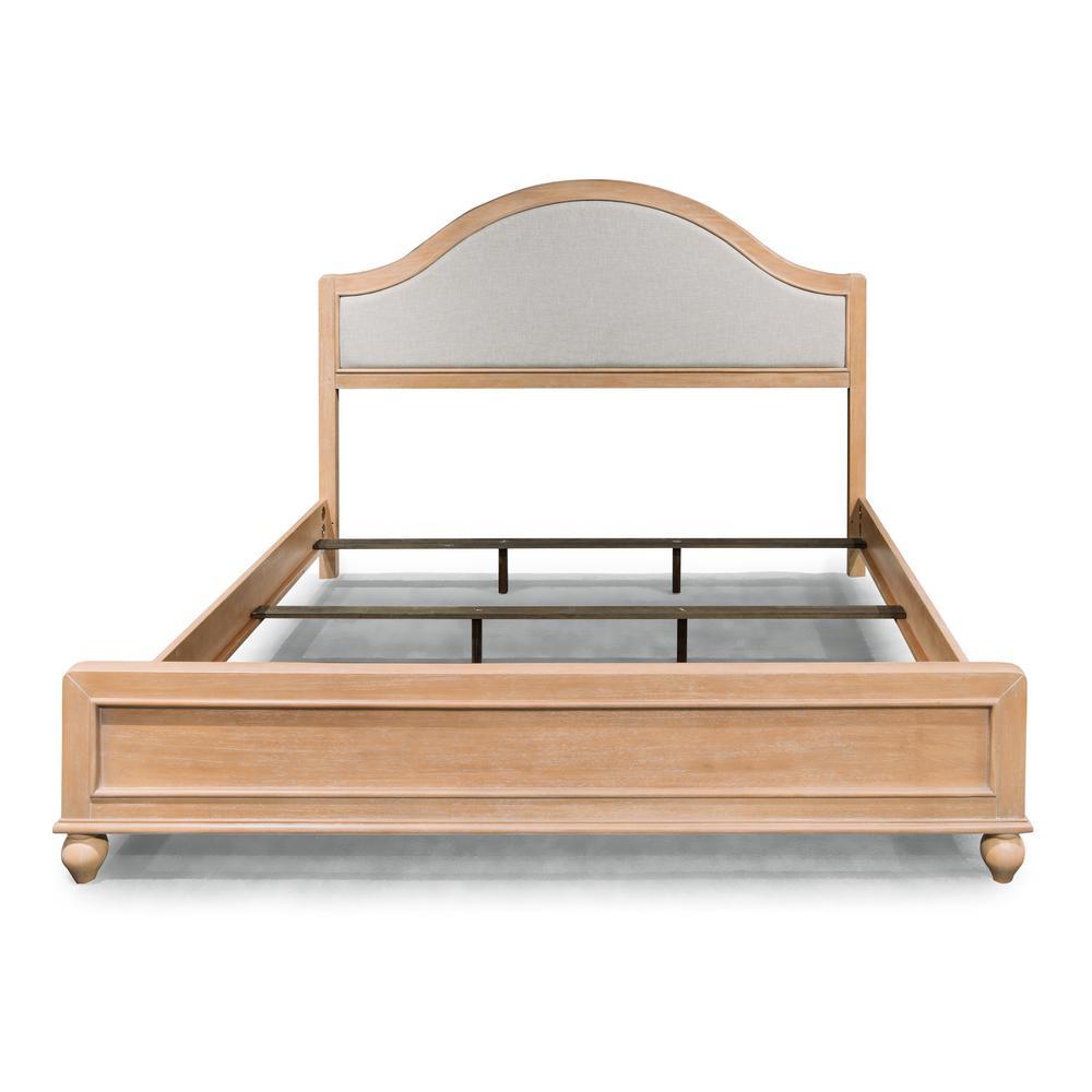 Cambridge 3-Piece White Washed Beige Queen Bedroom Set