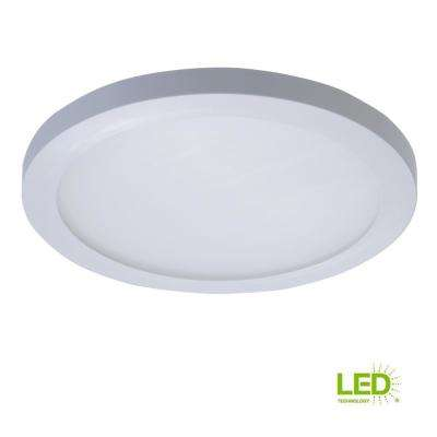 SMD 5 in. and 6 in. White Integrated LED Recessed Round Surface Mount Ceiling Light Fixture at 90 CRI, 5000K Daylight