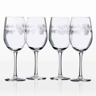 Icy Pine 12 oz. Clear White Wine (Set of 4)