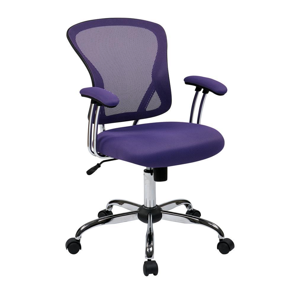 Superieur Ave Six Juliana Purple Task Chair