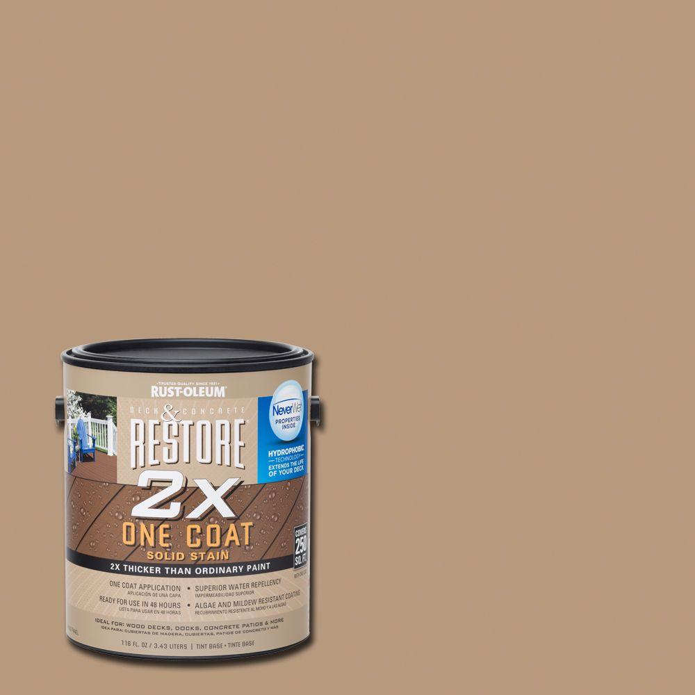 1 gal. 2X Clay Solid Deck Stain with NeverWet