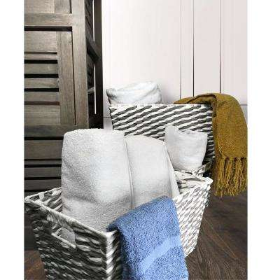 6-Piece Tapered Rectangular Paper Rope Multiple Basket