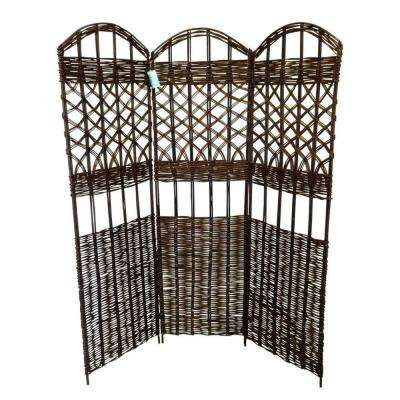 54 in. W x 60 in. H 18 in. per panel 3-Panel Willow Screen Sets
