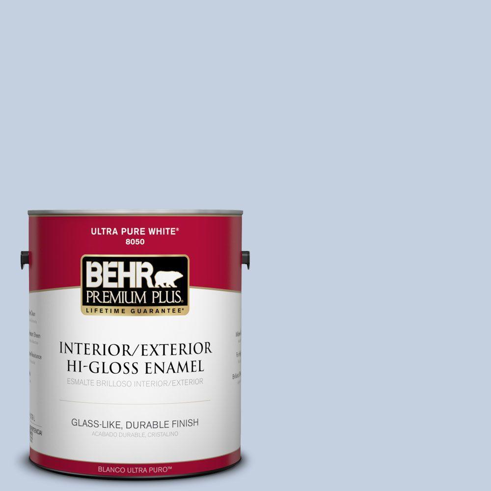BEHR Premium Plus 1-gal. #S530-1 Soaring Sky Hi-Gloss Enamel Interior/Exterior Paint