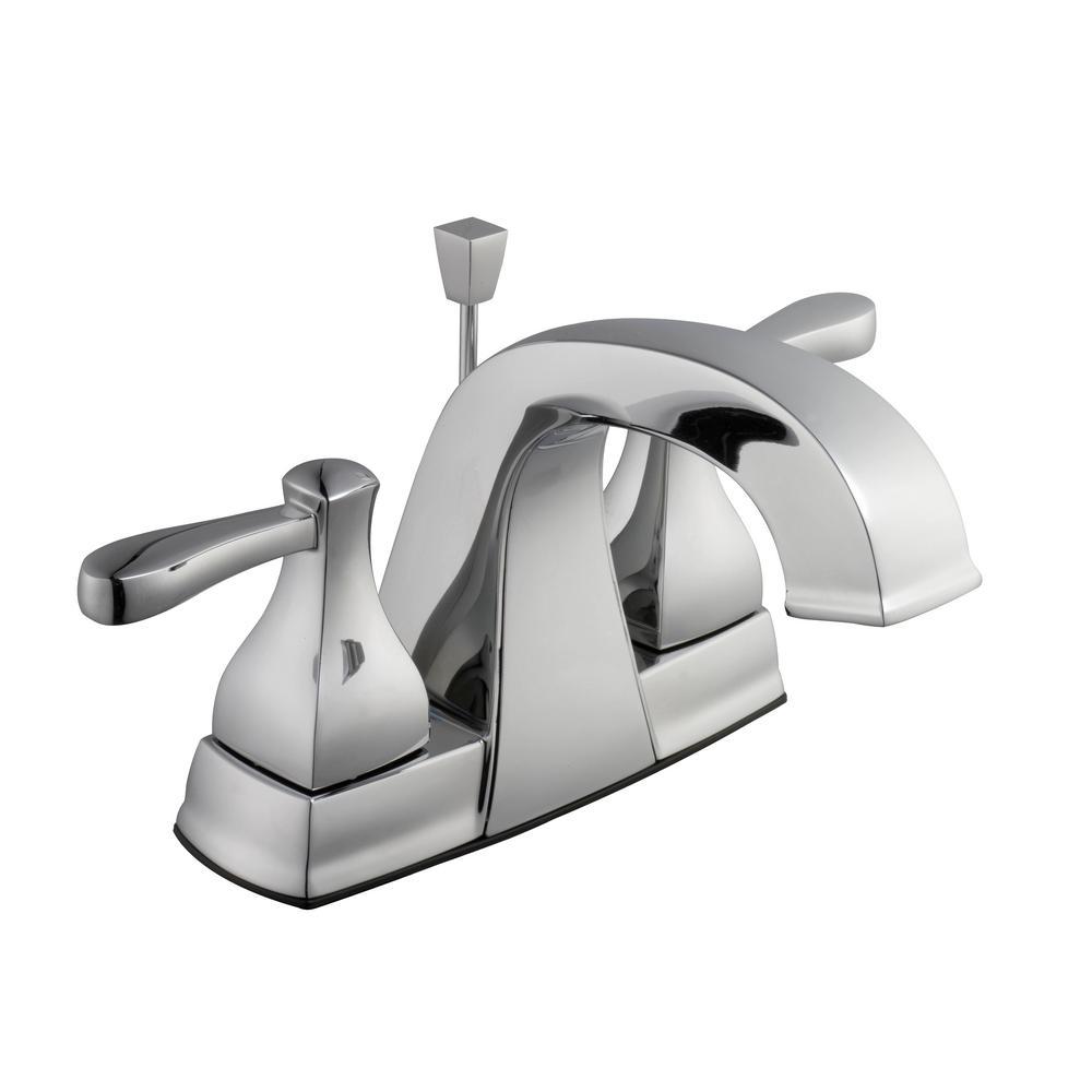Glacier Bay Milner 4 In Centerset 2 Handle High Arc Bathroom Faucet