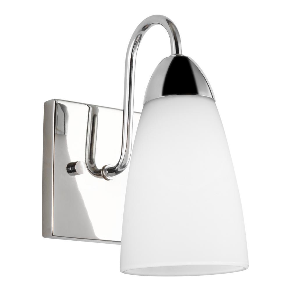 Seville 4.75 in. 1-Light Chrome Vanity Light with LED Bulb